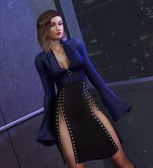 # 106 | Focus on me 💙 (Althea Phan) Tags: rowne stealthic seul taikou secondlife kustom9 slfashion catwa maitreyameshbody industrie dahlia vexiin
