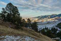 Red Grade Ridge (kevin-palmer) Tags: bighornmountains bighorn wyoming fall autumn november nikond750 evening clouds tamron2470mmf28 sunset redgraderoad pine trees forest trail path snow snowy
