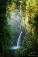 Metlako Falls (Gary Randall) Tags: gar89322 oregon columbiarivergorge waterfall metlakofalls forest creek river eun sunshine light fog mist