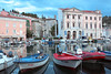 Port in Piran. (izzistudio) Tags: port harbor boats boat sailboats water slovenia piran travel red blue seascape sea adriatic europe european city izzistudio buildings architecture buy photography online etsy shop wall decor