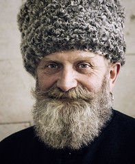Cossack (wesolt) Tags: russia portraiture portraits portrait face faces travel russian greybeard beard man folklore national authentic folk smile people society