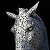 Duke (Arni J.M.) Tags: sculpture duke thekelpies andyscott horse workhorse dukeandbaron head chanfron metal eye glares helixpark scotland uk