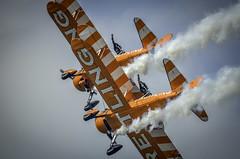 130825_Dunsfold_0152 (dandridgebrian) Tags: airshow dunsfold wingswheels airdisplay breitlingwingwalkers biplanes breitlingwingwalker boeingstearman