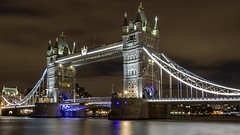 Tower Bridge (COCOAJAMESON) Tags: skyline lights exposure longexposure thames riverthames river nightsky sky darksky dark nighttime bridge london londonbridge canon canon7dmkii nightshot afterdark