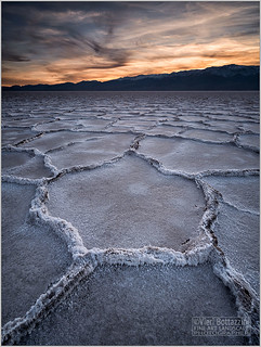 A BADWATER SUNSET