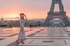 the french Model (julialarrigue) Tags: eiffeltower paris france sunrise sun color