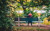 Lonely nature (hector_cbs) Tags: loneliness planet nature naturaleza girl park trees plants fall autumn environment woman light shadows tree grass people