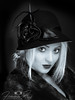 Bewitching beauty (femmaryann) Tags: bewitched bewitching beauty portrait beautiful purpleport hat cutie cute fur luxury blonde feathers