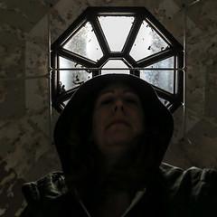 Escape Hatch / 337.365 (sadandbeautiful (Sarah)) Tags: me woman female self selfportrait 365daysx8 365days day337 skylight abandoned