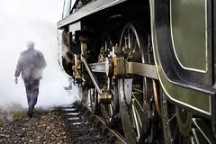 Mighty (hehaden) Tags: train engine locomotive steam track railway man bluebellrailway sheffieldpark sussex