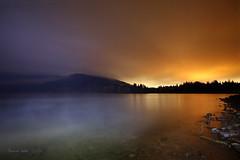 Styx Whispers (Ramen Saha) Tags: lake lakesiskiyou nightphotography lightpollution clouds steamfog fog frostsmoke lightpainting longexposure water ramensaha