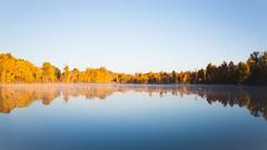 Presentation (John Westrock) Tags: nature reflection autumn fall autumncolors fallcolors water bluesky clearsky sky longexposure canoneos5dmarkiii sigma35mmf14dghsmart washingtonstate pacificnorthwest ellensburg