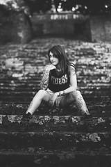 Debora - Where Is My Mind 001 (Thomas Mathues) Tags: httpswwwfacebookcomthomasmathuesphotography wwwtmphotographybe httpswwwinstagramcomtmphotographybe photoshoot shooting abbaye villers photographe tm photography modèle debora secchiero mua valérie decrom make up artist black white faded tattoo girl autumn fall attitude young beauty dark ruins mood noir blanc