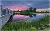 Sunset by the bridge (etzel_noble) Tags: rivers bridge metropark sky reflections landscape sunset