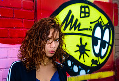 Brooklyn2017(NY) (bigbuddy1988) Tags: people portrait photography nikon d800 sb600 flash strobe color usa new art city urban graffiti yellow red girl woman nyc brooklyn newyork digital street