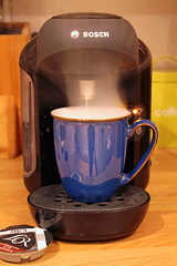 Nearly ready............... (christina.marsh25) Tags: coffee royaldoulton mug bosch tassimo coffeemachine machine brew steam coffeebreak flickrfriday