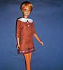 Brown 'suede' dress for Francie (skipscales) Tags: barbie francie mod fashion fashiondoll doll brown dress suede collar ooak handmade