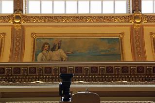 20171108.349.UT.SLC.Capitol.d.1912-6.Richard.K.A.Kletting.ThirdFl.HouseOfRepresentatives.DiscoveryOftheGreatSaltLake.BrighamYoung.w.JimBridger.by.A.E.Foringer