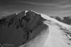 In cresta al monte Bove Sud (EmozionInUnClick - l'Avventuriero photographer) Tags: sibillini blackwhite bn cresta montagna montebovesud neve