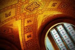 Mosaic Ceiling - Royal Ontario Museum Rotunda (Derek Mellon) Tags: mosaic ceiling royalontariomuseum rotunda rom hdr toronto