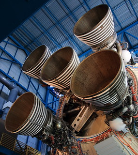Saturn V Rocket Engines -  Saturn V/Apollo Center, Kennedy Space Center, Florida