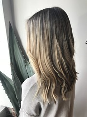 Balayage by Tina and cut with Sher