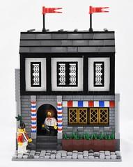 Barber's Shop, Jameston (Ayrlego) Tags: brethrenofthebrickseas bobs jameston redcoats corrington sirdirkallcock lego barber