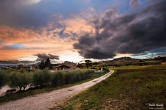 Strange days (Danilo Agnaioli) Tags: umbria natura italia tramonto perugia colline cielo nuvole strada canon6d