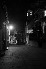 Down town (Sundornvic) Tags: shrewsbury light dark night bw