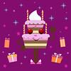 Торт (Anna_Butolina) Tags: cake торт свечи деньрождения праздник подарки вектор gift