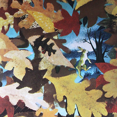 Autumn Rabbit. (Kultur*) Tags: vintage vintagebook books childrensbook fiction illustrated goldenbook midcentury leonardweisgard margaretwisebrown thegoldenbunny bunnies biggoldenbook animalstories woodland rabbit midcenturymodern