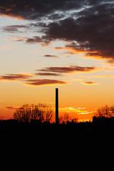 Burning Sky (Kovah.de) Tags: clouds cloud cloudscape sun sunset sunshine evening berlin germany city citylife street streetlife skyline cityscape chimney trees shadows