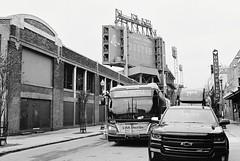 R6-036-16A (David Swift Photography) Tags: davidswiftphotography boston massachusetts fenwaypark baseball bostonredsox streetphotography streetscapes signs houseofblues busses ballparks 35mm film nikonfm2 ilfordxp2