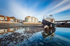 Stranded (S l a w e k) Tags: boat adur river estuary coast seaside lowtide shoreham sussex england uk landscape travel sunset outdoors shore pebble longexposure