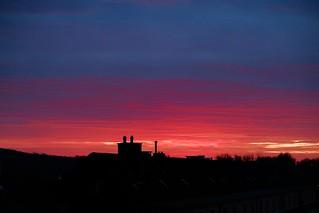 Dawn in Düsseldorf.
