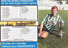 Plymouth Argyle vs Blackburn Rovers - 1991 - Back Cover Page (The Sky Strikers) Tags: plymouth argyle blackburn rovers barclays league division two home park programme one pound
