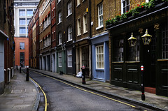 Street Locomotion (Dimmilan) Tags: uk england london city urban architecture buildings street windows pub