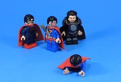 Superman Beat Down (MrKjito) Tags: lego super hero minifig cusotom man action comics dc rebirth universe cyborg general zod eradicator clark kent beat down