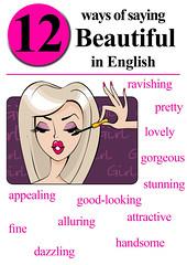 Saying Beautiful in English.