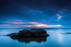 Blue Morning (Michael Halliday) Tags: clouds coast hitech nikkor2470f28ged nikon nikond600 northumberland northumbria rocks sea seascape sky sunrise water