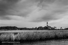 Bodie Lighthouse (nataliekrovetz) Tags: obx nikonfm2 ektar100 35mm film spring2017 bnw analog believeinfilm lighthouse outerbanks northcarolina beach bodielighthouse monochrome marsh nature landscape