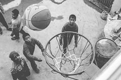 Rebound (#Weybridge Photographer) Tags: canon slr dslr eos 5d mk ii nepal kathmandu asia mkii basketball basket ball play game sport monochrome boy child children rebound boys
