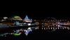 Tyne Quayside (MMiPhoto) Tags: sage gateshead concert tyne river night bridge reflections lights quayside
