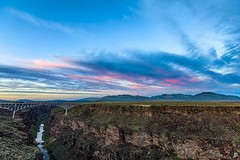 Oh just a 565' high arch br... || via Instagram (Jeremy Pollack) Tags: river sunset sky newmexico riogrande taos