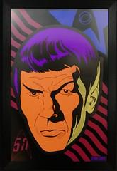 Star Trek at MoPop (bballchico) Tags: startrek mopopmuseumofpopculture seattle seattlecenter livelongandprosper neon blacklite spock