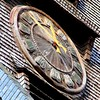 5330 3 (EricS2009 Photo) Tags: honfleur horloge église clock church bois wood ardoise aiguille jaune yellow chiffre romain number sainte catherine normandie calvados eglise