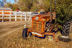 There's work to be done (Clever Poet) Tags: rusty old funky abandoned horse barn farm life tires wheels flats broken axle