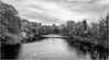 Barnard Castle . (wayman2011) Tags: fujifilm18mmf2 lightroomfujifilmxpro1 wayman2011 bwlandscapes mono rural castles ruins rivers rivertees water reflections trees pennines dales teesdale barnardcastle countydurham uk