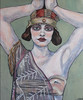 Eleanor (lynn fraser) Tags: art painting acrylic woman girl deco falpper 1920s