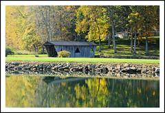 Covered Bridge and Autumn Reflections (sjb4photos) Tags: michigan brooklynmichigan coveredbridge autumn